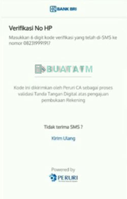 8 Verifikasi No HP