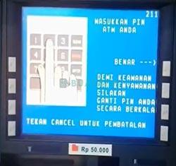 2 Masukkan PIN ATM BNI