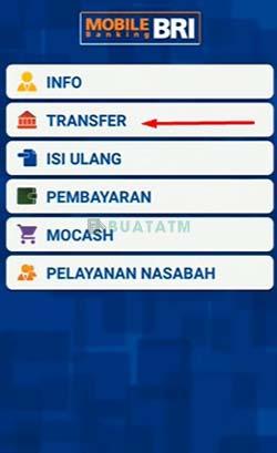 2 Pilih Transfer