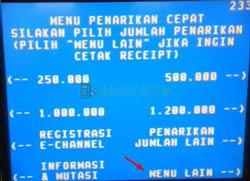 3 Pilih Menu Lain ATM BNI