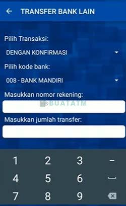 4 Masukkan Kode Bank dan Nomor Rekening Tujuan