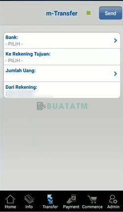 4 Pilih Nomor Rekening Bank Tujuan