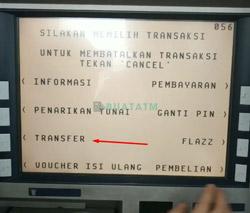4 Pilih menu Transfer