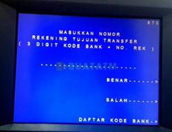 6 Masukkan Kode Bank dan Rekening Tujuan