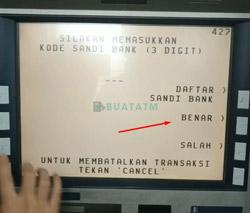 6 Masukkan Kode Bank