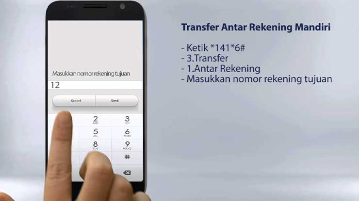Cara Transfer SMS Banking Mandiri ke Sesama