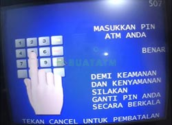 Masukkan PIN ATM BRI