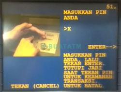 Masukkan PIN ATM Mandiri