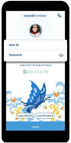 Masukkan User ID dan Password Mobile Banking Mandiri