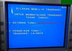 Pilih Setor Tunai BCA