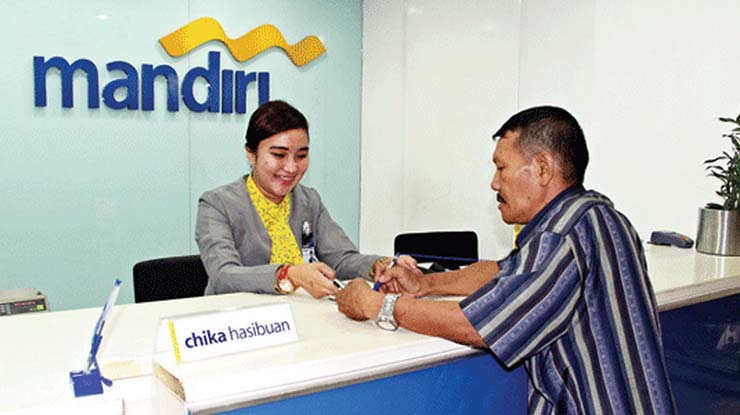 Transfer via Teller Bank Mandiri