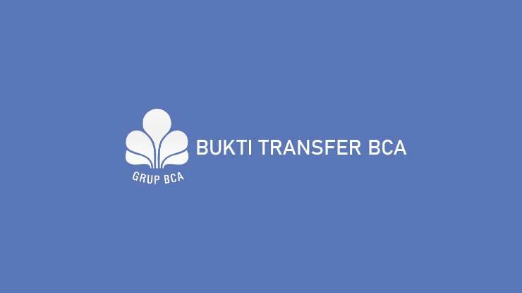 BUKTI TRANSFER BCA
