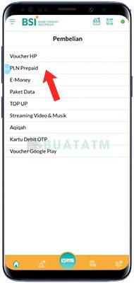 Beli Token Listrik BSI Mobile