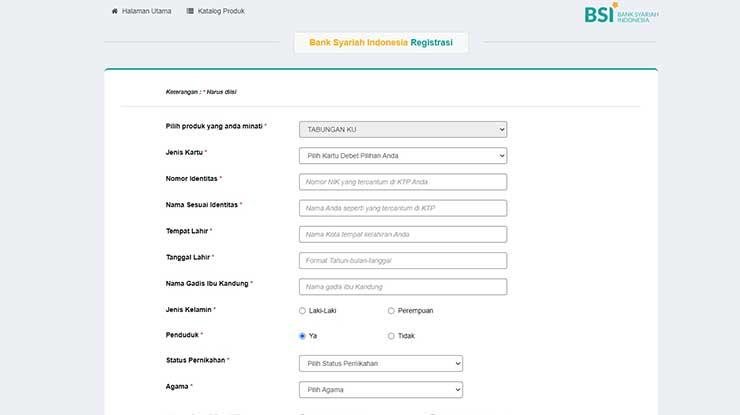 Buka Rekening Bank Syariah Indonesia Online