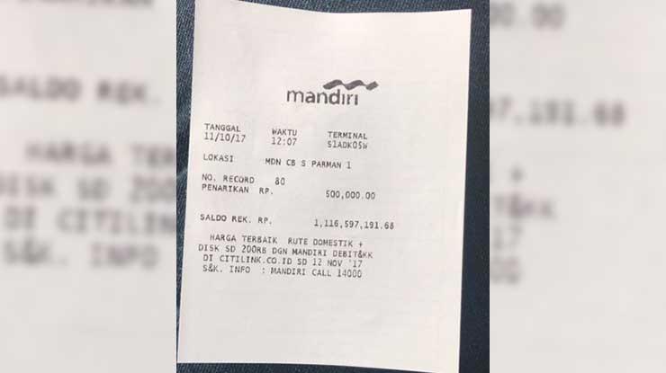 Bukti Transfer ATM Mandiri