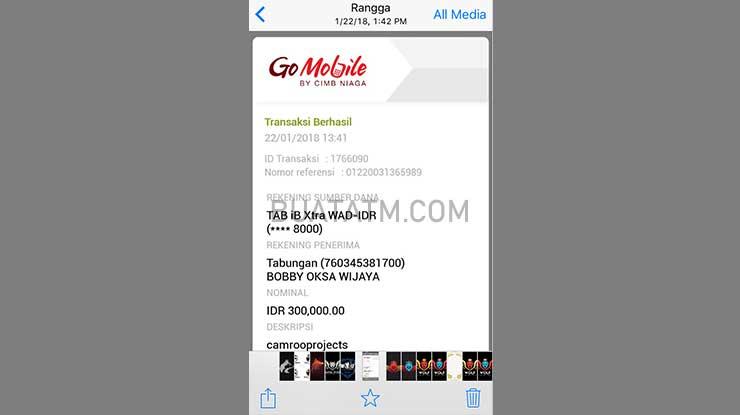 Bukti Transfer Go Mobile