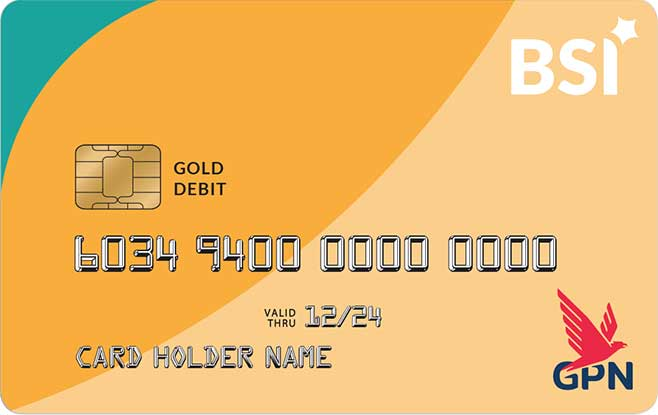 Kartu ATM Bank Syariah Indonesia GPN Gold
