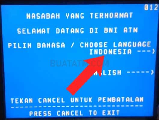 Token Listrik di ATM BNI