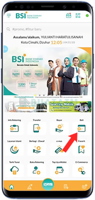 Token Listrik di BSI Mobile Banking