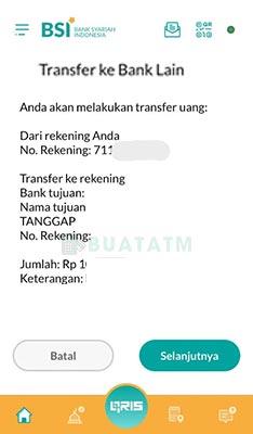 Transfer BSI Mobile banking