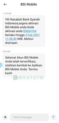 kode Aktivasi BSI internet banking