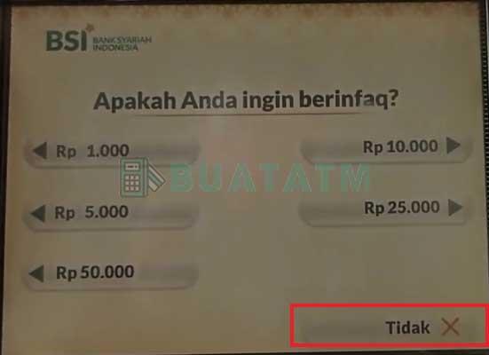 Cek Saldo ATM BSI