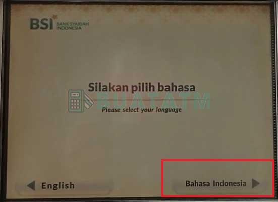 masukkan kartu atm bank syariah indonesia