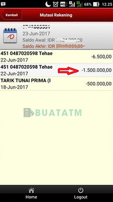Cek Mutasi Lewat SMS Banking
