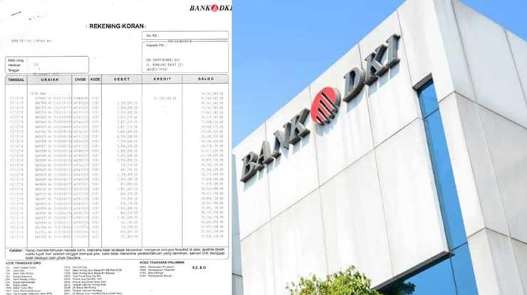 Cetak Rekening Koran Bank DKI