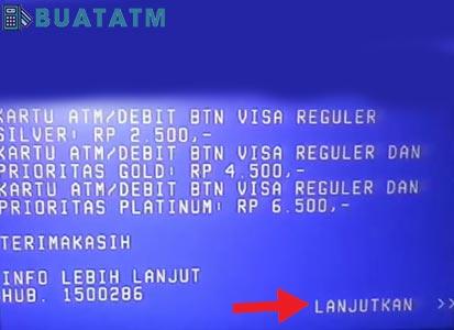 Mutasi Bank BTN Lewat ATM