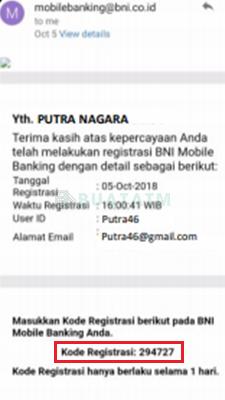 email verifikasi bni