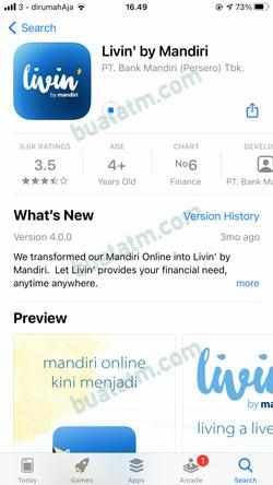 1 Download Instal Livin By Mandiri