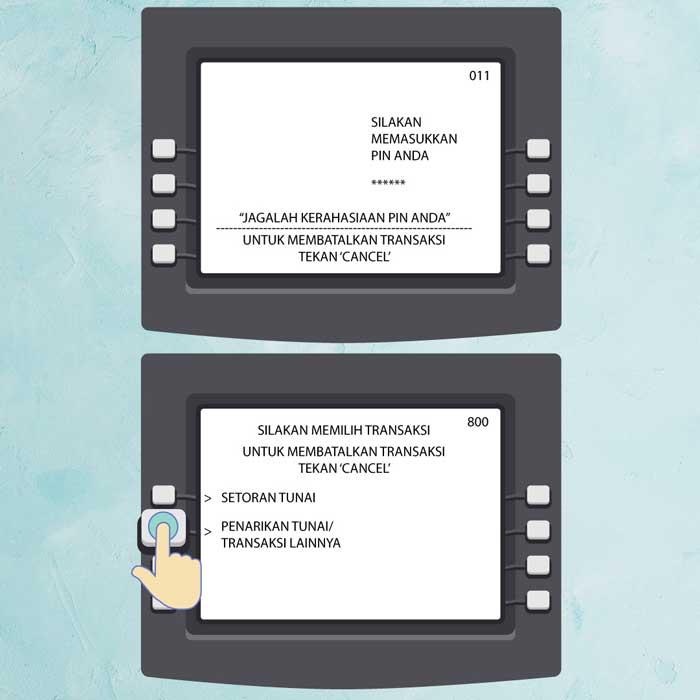 1 Masukan Kartu ATM