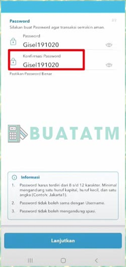 19 Buat Password