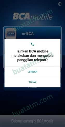2 Beri Izin BCA Mobile