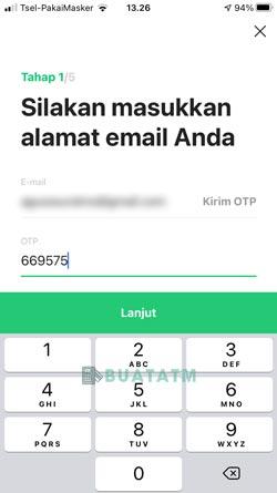 4 Masukkan Alamat Email OTP