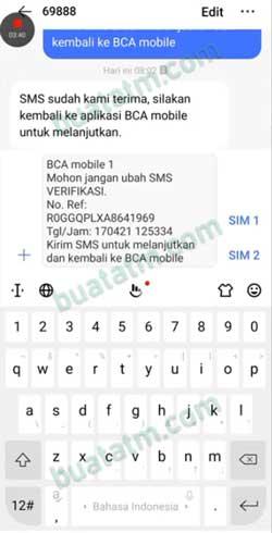 6 Kirim SMS Verifikasi