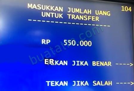 6 Masukkan Nominal Transfer