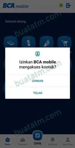 8 Izinkan BCA Mobile Akses Kontak