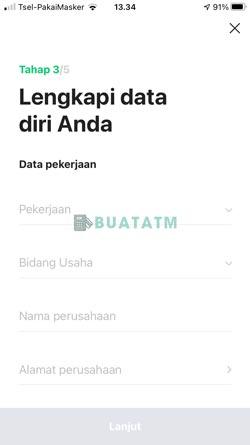 8 Lengkapi Data Pekerjaan