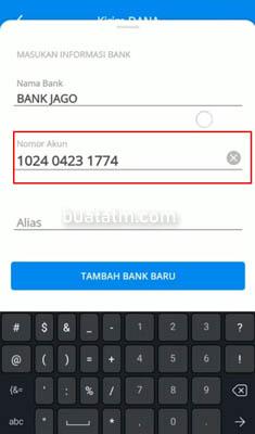 nomor bank jago