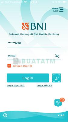 1 Login BNI Mobile