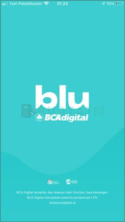 1 Masuk Aplikasi blu BCA