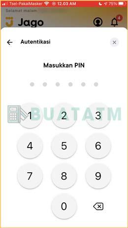 10 Masukkan PIN 1