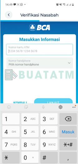 13 Masukkan Nomor Kartu ATM