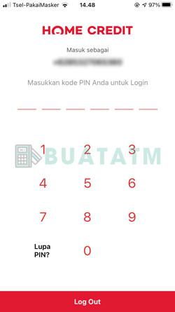 2 Masukkan PIN Home Credit