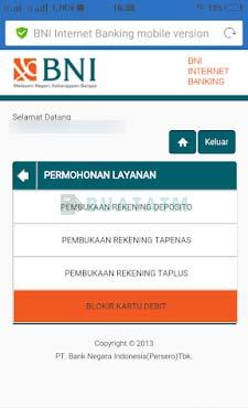 2 Pilih Blokir Kartu Debit