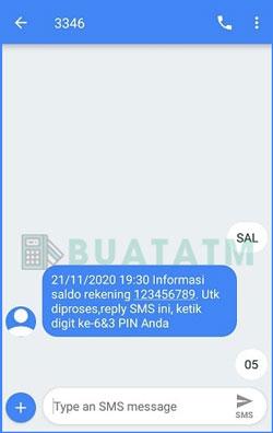 3 Balas Pesan SMS Banking BNI