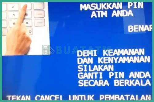3 Masukkan PIN ATM