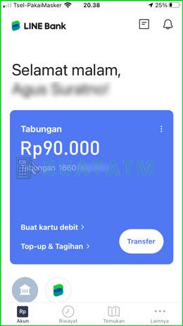 3 Pilih menu Transfer